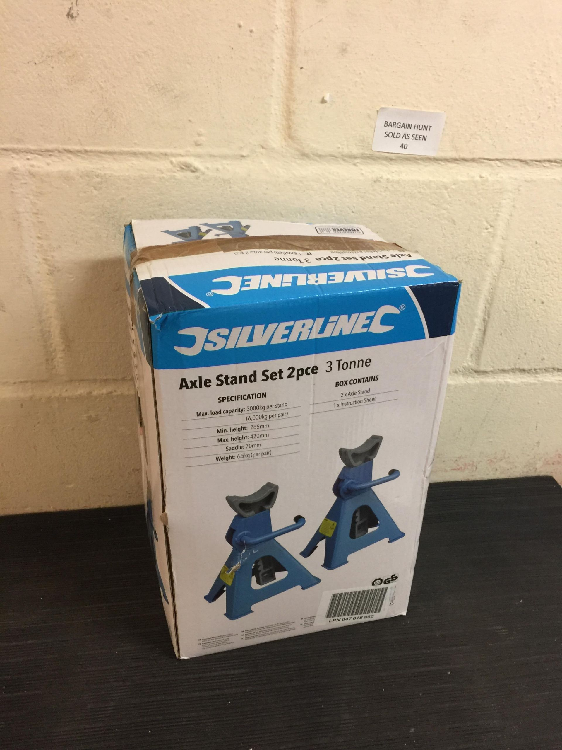 Lot 40 - Silverline Axle Stand set