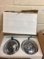 "Lot 125 - 7"" Round 80W LED Headlights Halo Ring Angel Eyes&Amber RRP £109.99"