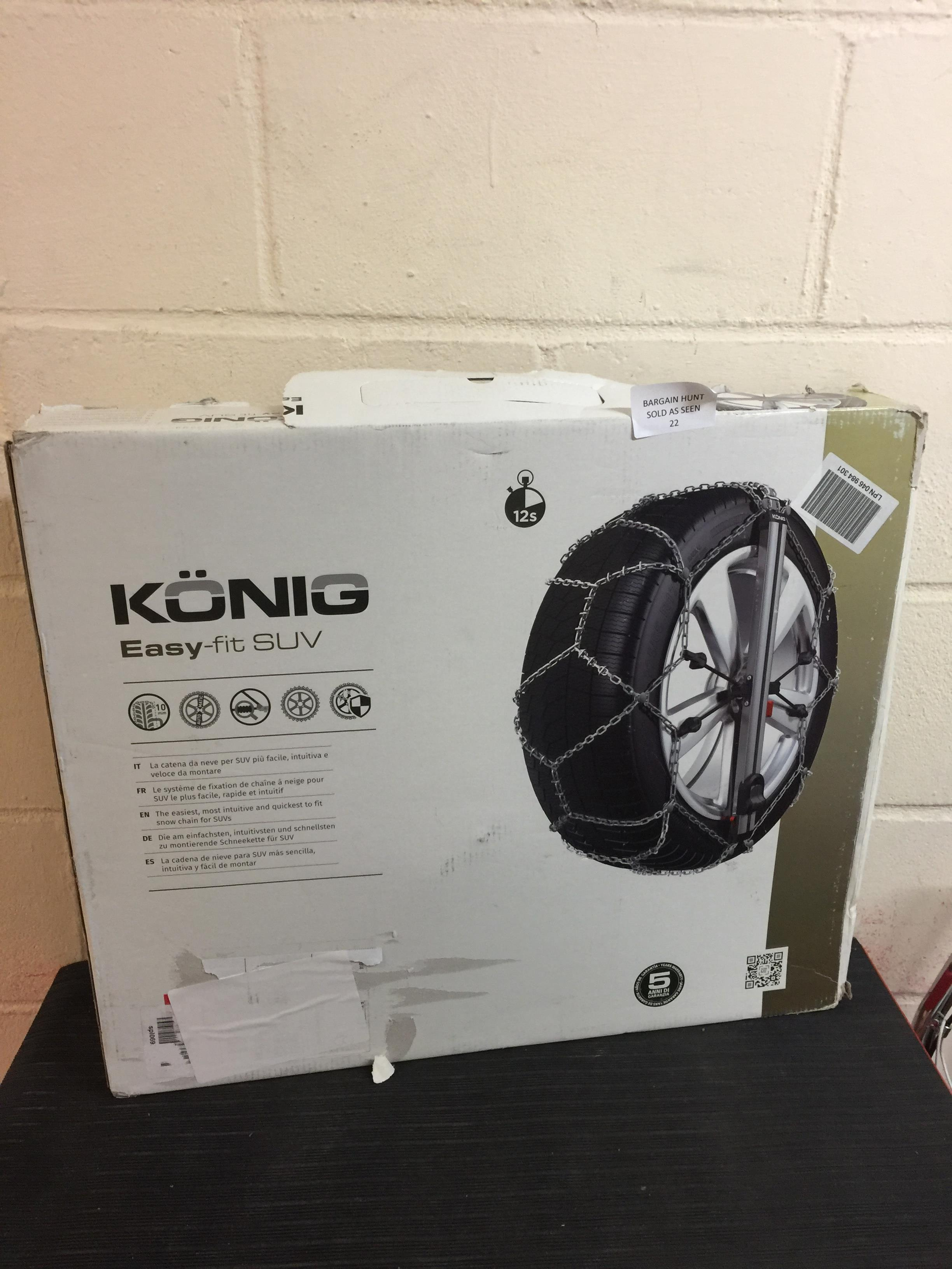 Lot 22 - KÖNIG EASY-FIT SUV 247 Snow Chains, set of 2 RRP £239.99
