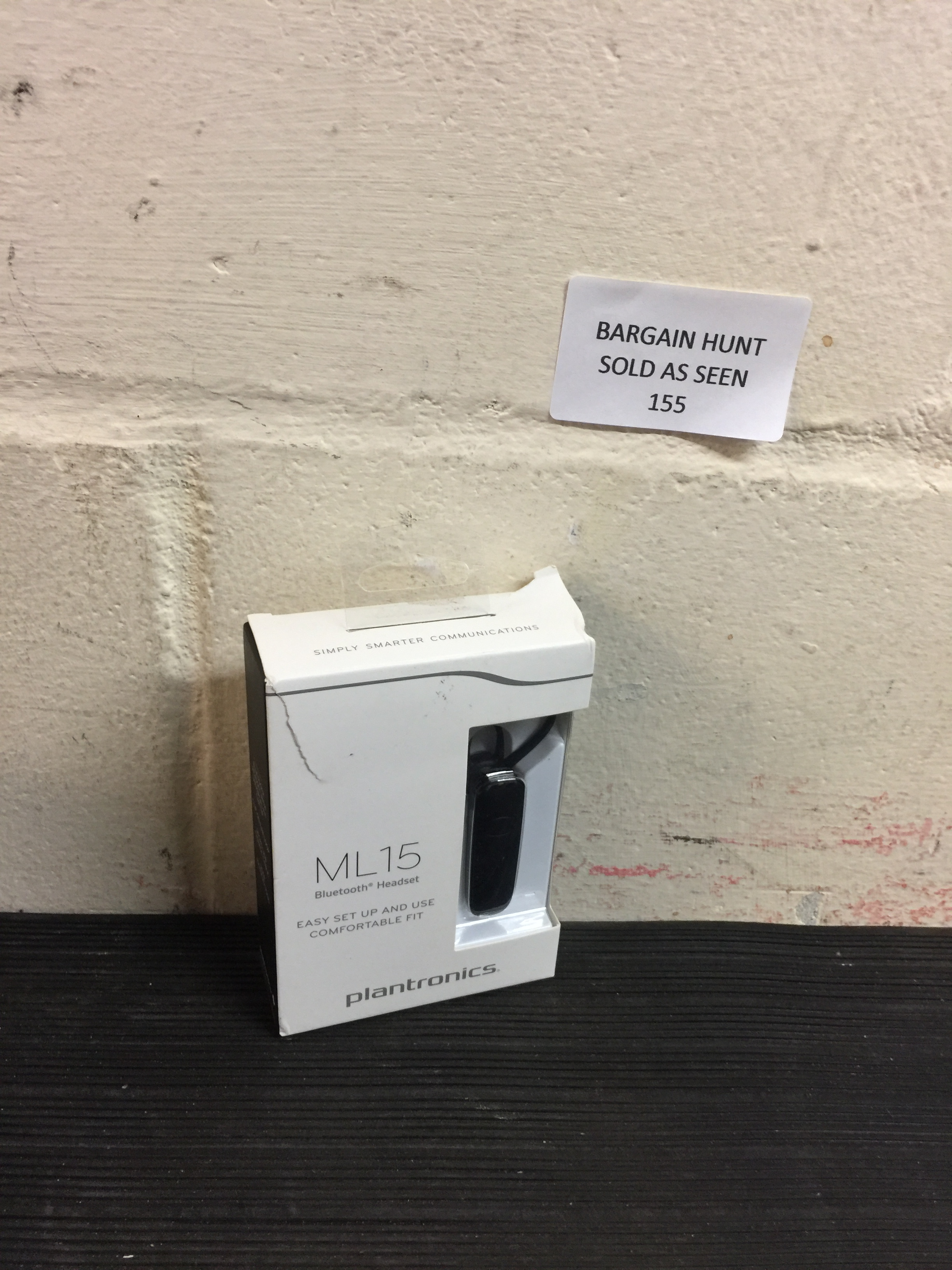Lot 155 - Plantronics Bluetooth Headset