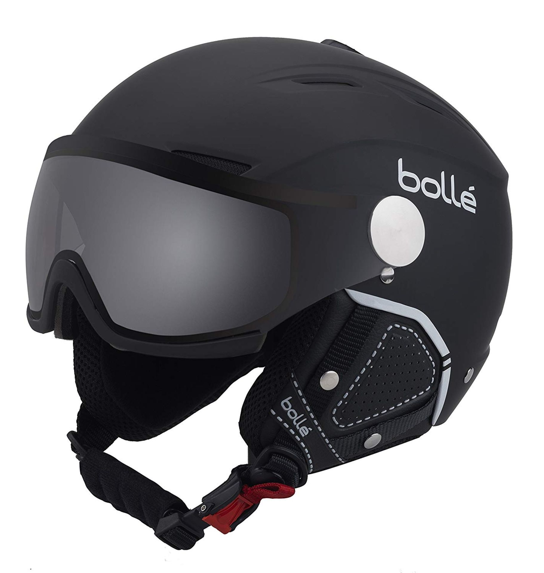 Lot 1 - Bollé Backline Visor Premium Outdoor Helmet, Black (Soft black and white), 59 - 61 cm RRP £144.99