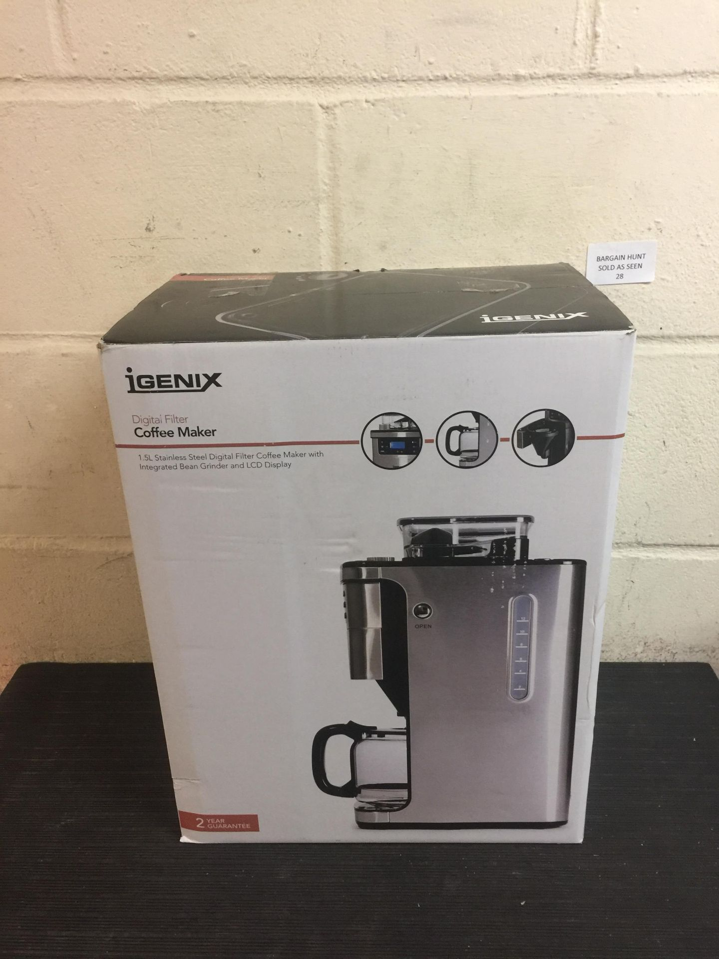 Lot 28 - Igenix IG8225 Bean to Cup Filter Coffee Maker RRP £69.99