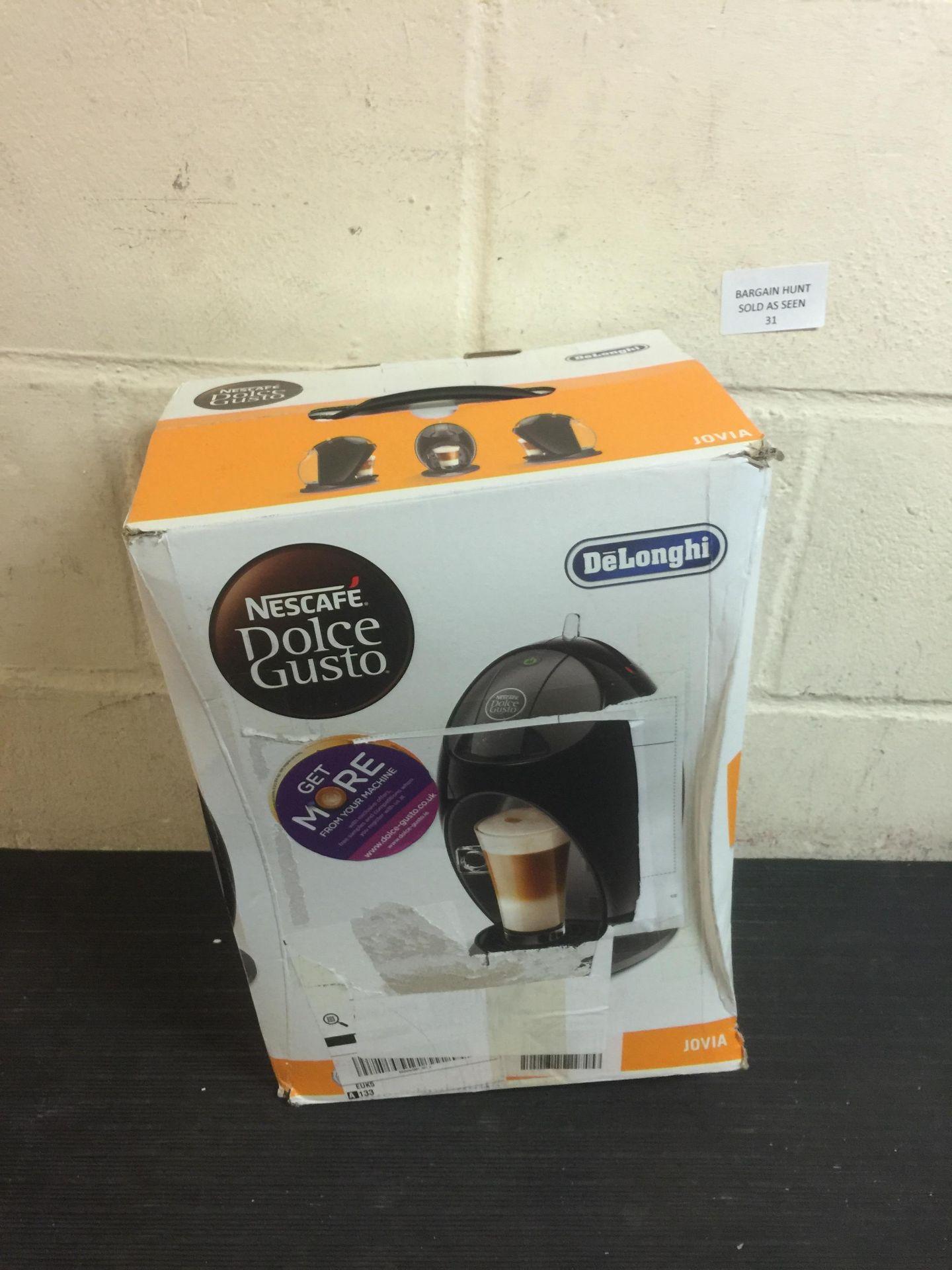 Lot 31 - Nescafé Dolce Gusto Jovia by De'Longhi - EDG250B Coffee Machine