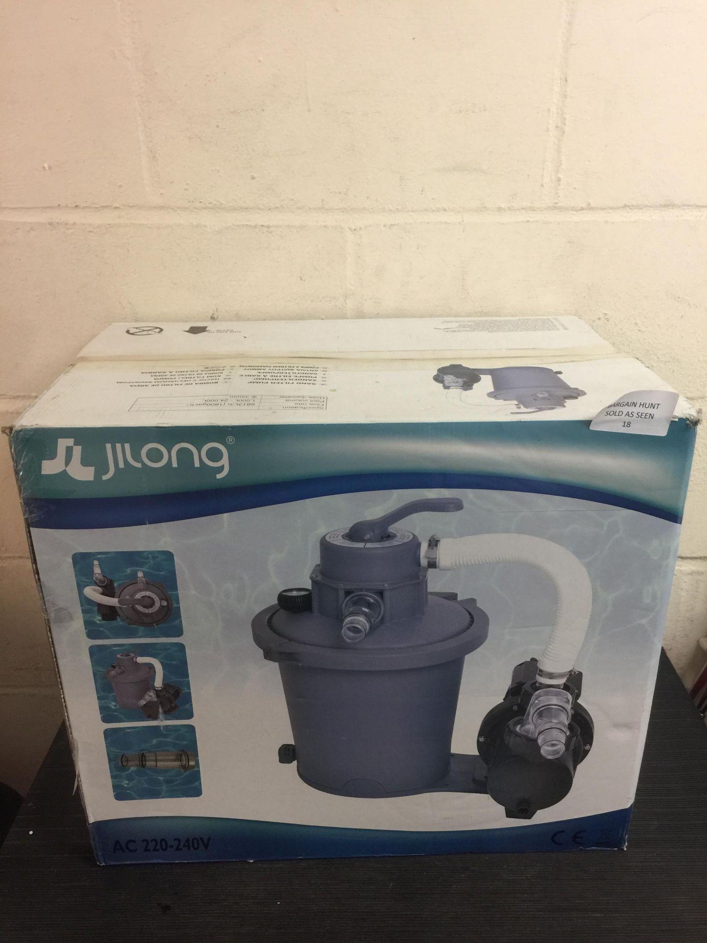 Lot 18 - Jilong Sand Filter Pump 1800Gal RRP £149.99