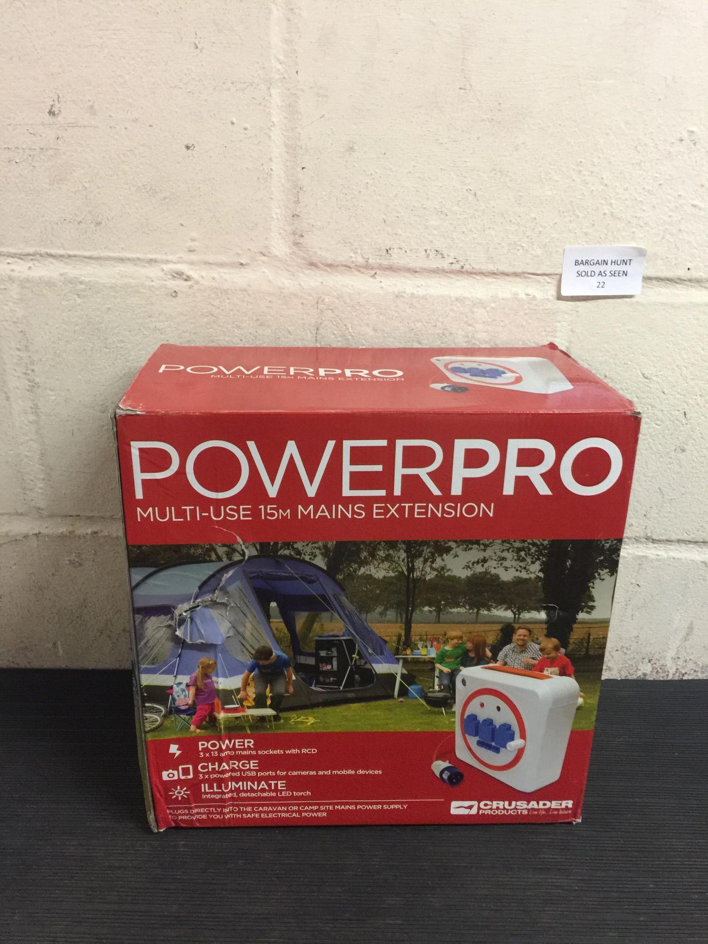 Lot 22 - Crusader PowerPro Multi-Use 15m Mains Extension