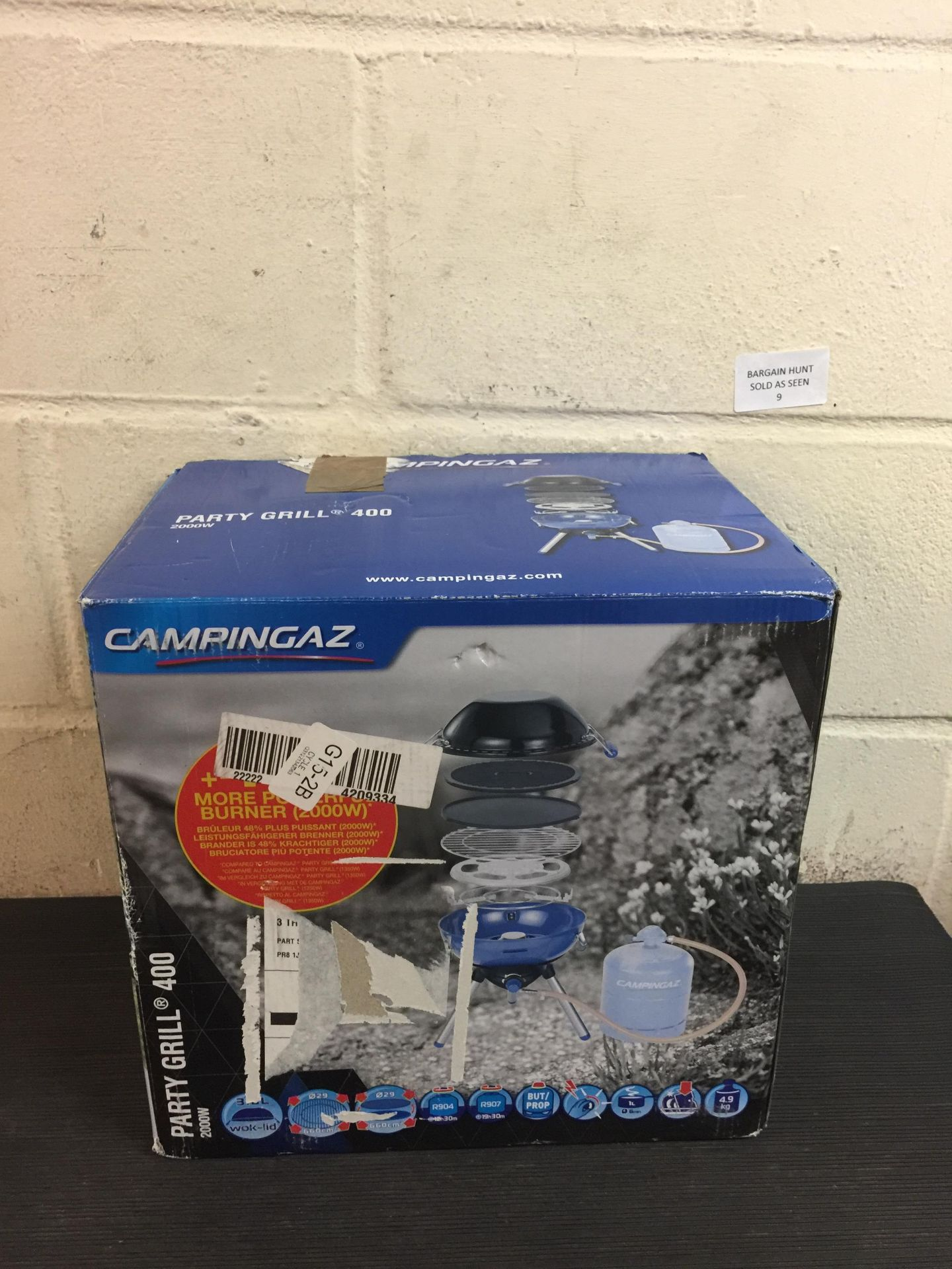 Lot 9 - Campingaz Party Grill 400 Camping Stove, All in One portable Camping BBQ RRP £86.99