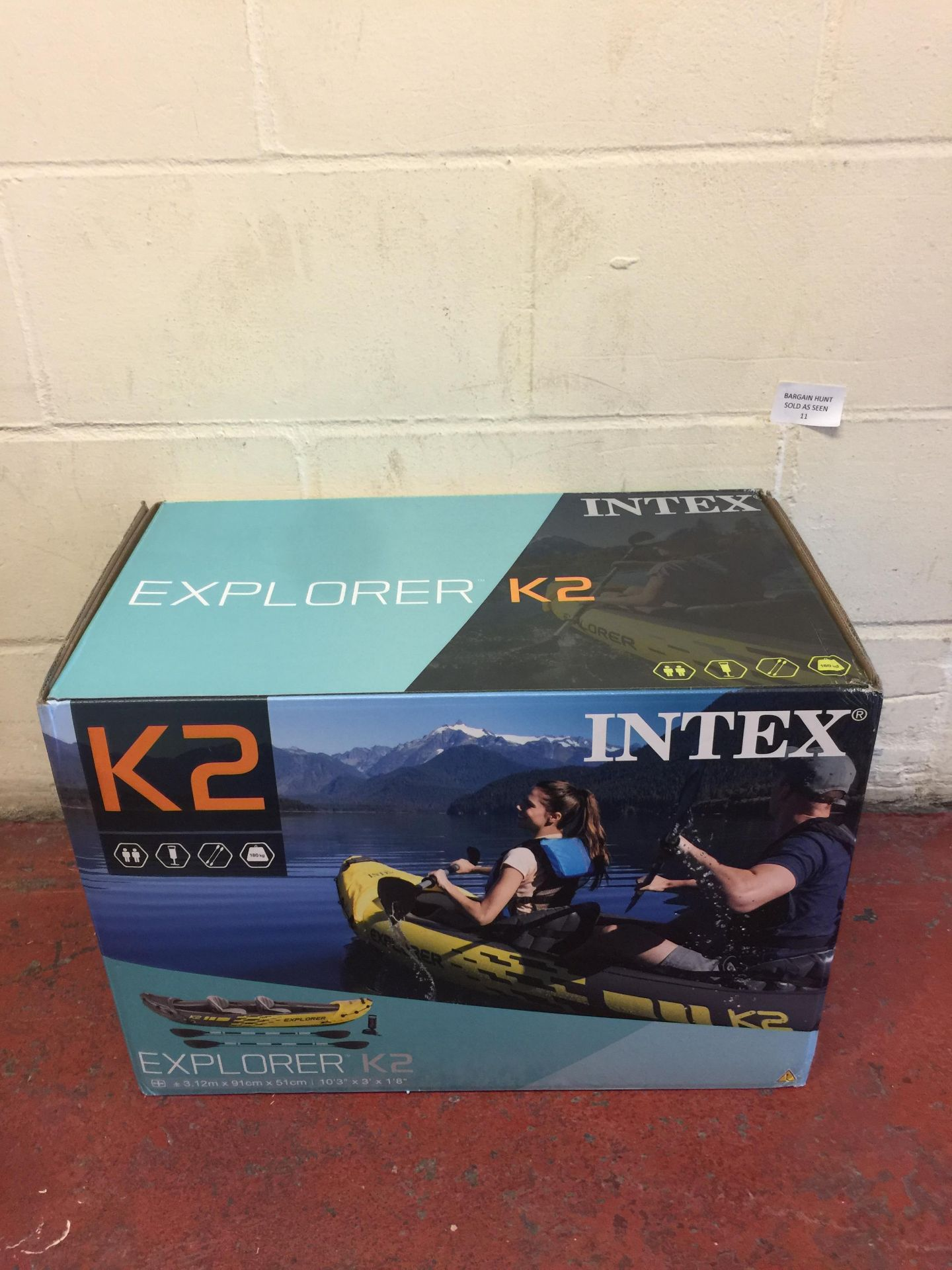 Lot 11 - Intex Explorer K2 Two-Person Kayak RRP £86.99