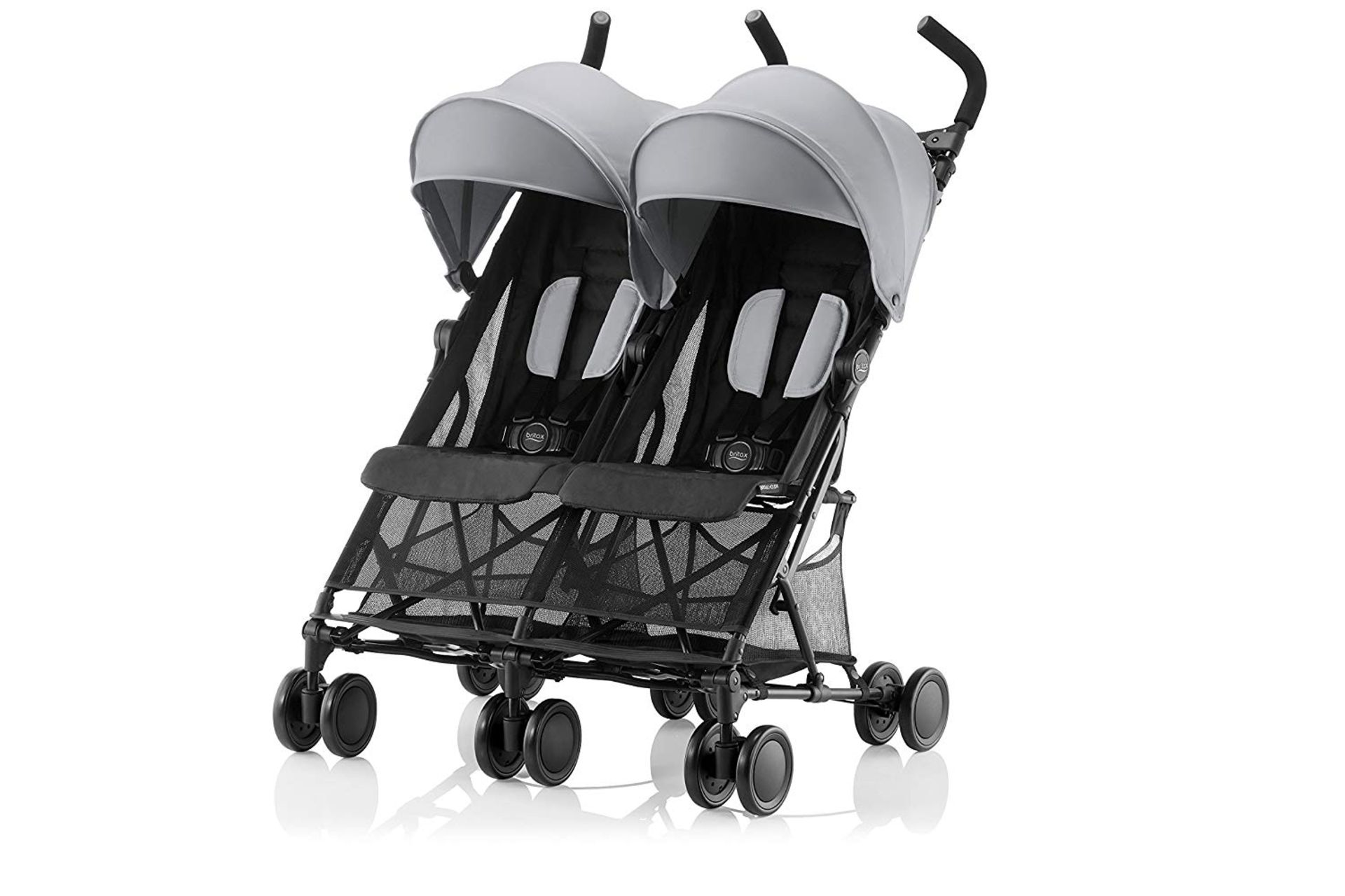 Lot 20 - Britax Römer HOLIDAY DOUBLE Pushchair (6 months - 15 kg|3 years ) - Steel Grey RRP £167.99