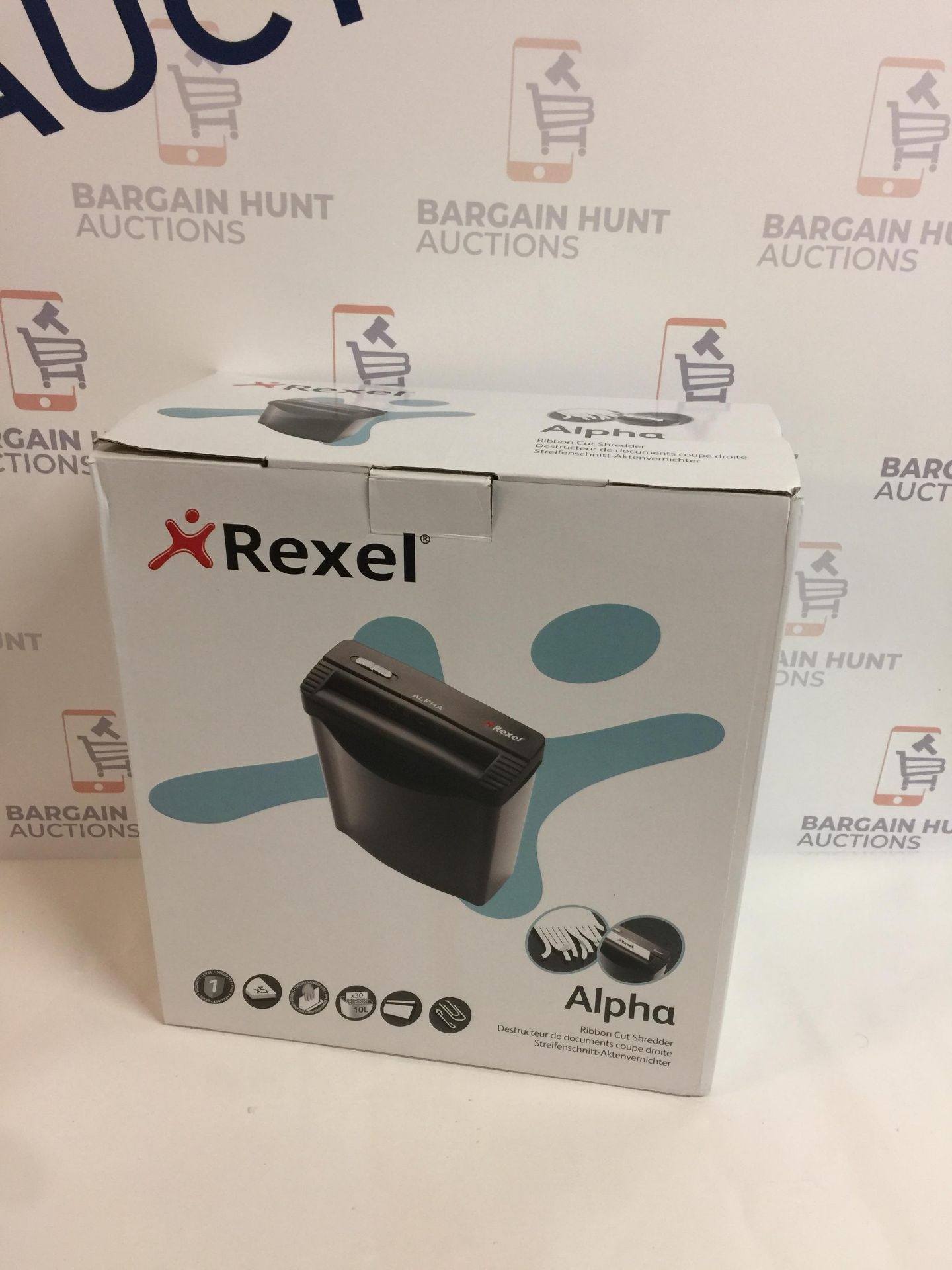 Lotto 12 - Rexel 1202020 Alpha Ribbon Cut Shredder