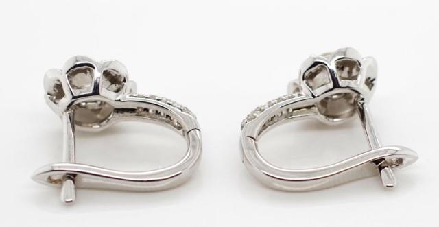 Lot 23 - Diamond and 14ct white gold earrings