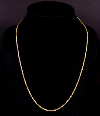 Lot 2 - 18ct yellow gold wheat link chain necklace