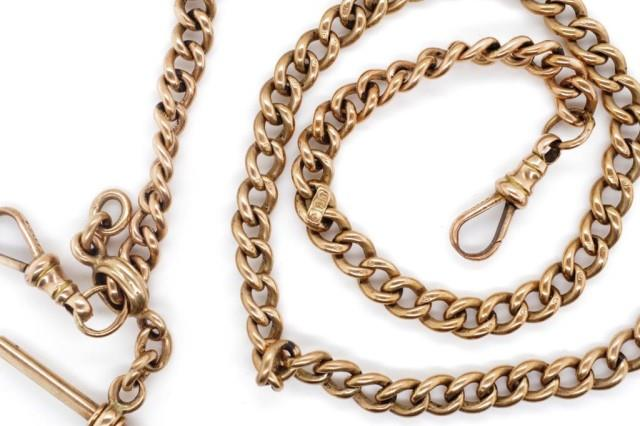 Lot 15 - Australian 9ct rose gold fob chain