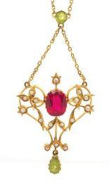 Lot 3 - Antique Australian 15ct gold pendant