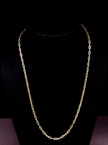 Lot 11 - 14ct yellow gold oval belcher chain necklace