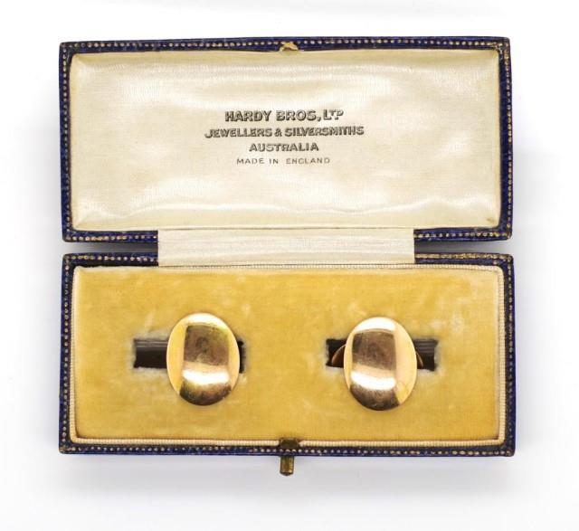 Lot 6 - Victorian 15ct yellow gold cufflinks