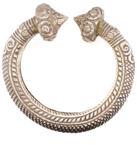 Lot 58 - Tribal silver anklet / armlet