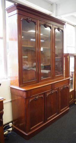 Lot 1720 - Victorian mahogany elevated bookcase