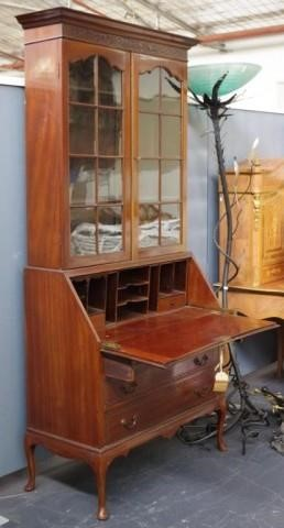 Lot 1732 - Vintage Bureau Bookcase