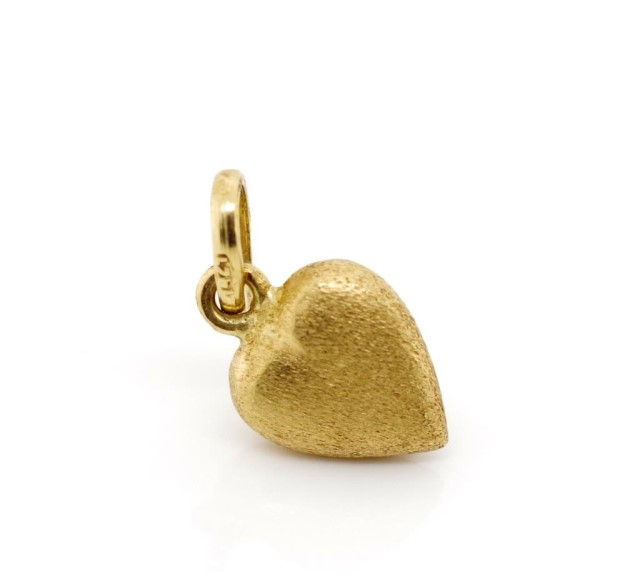 Lot 55 - 18ct yellow gold heart pendant