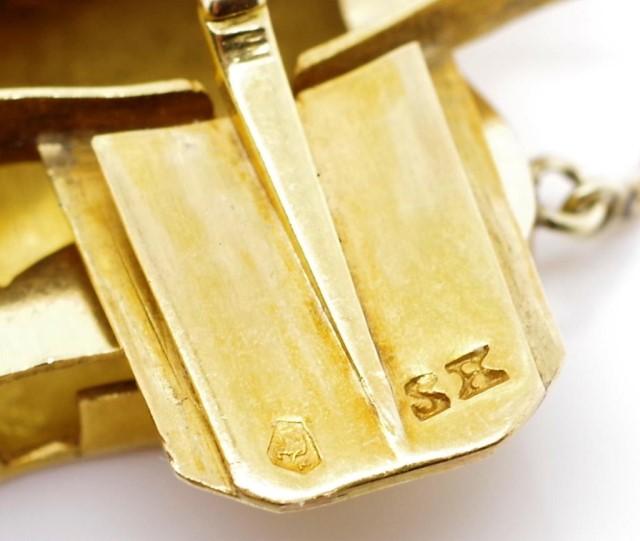 Lot 15 - Edwardian continental yellow gold bracelet