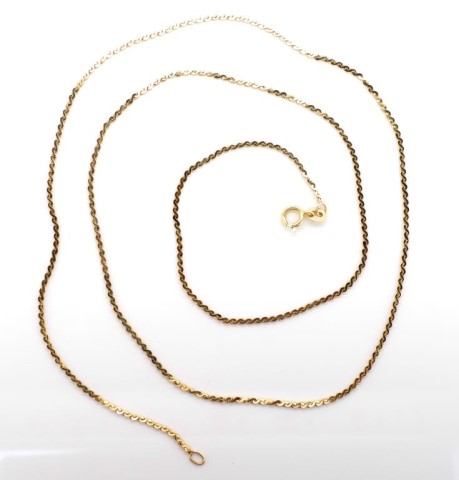 Lot 9 - 14ct yellow gold chain necklace