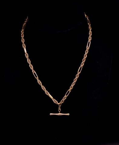 Lot 52 - 9ct rose gold fancy link necklace