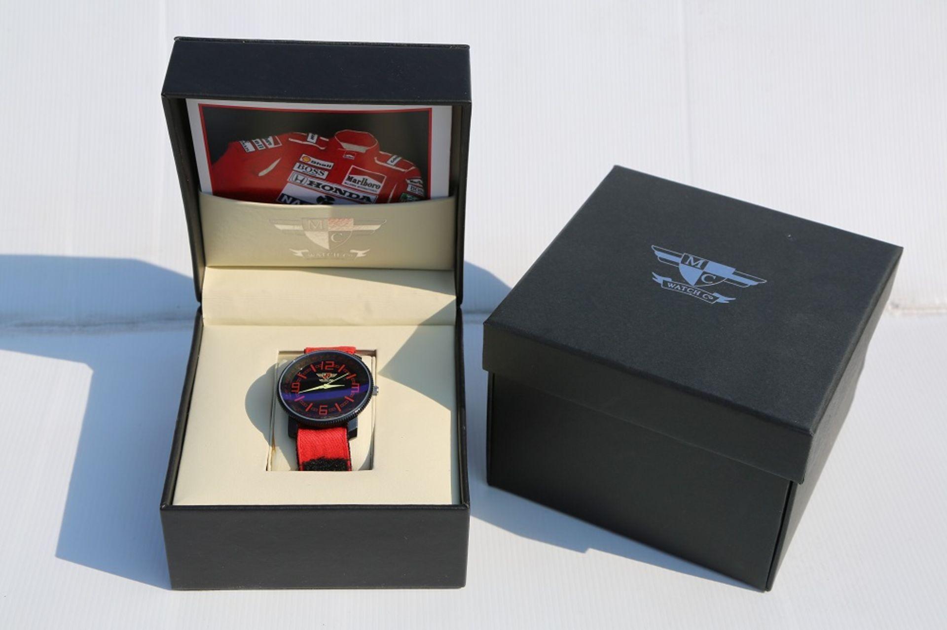 Lot 3 - Limited Edition Ayrton Senna Watch (Gents)