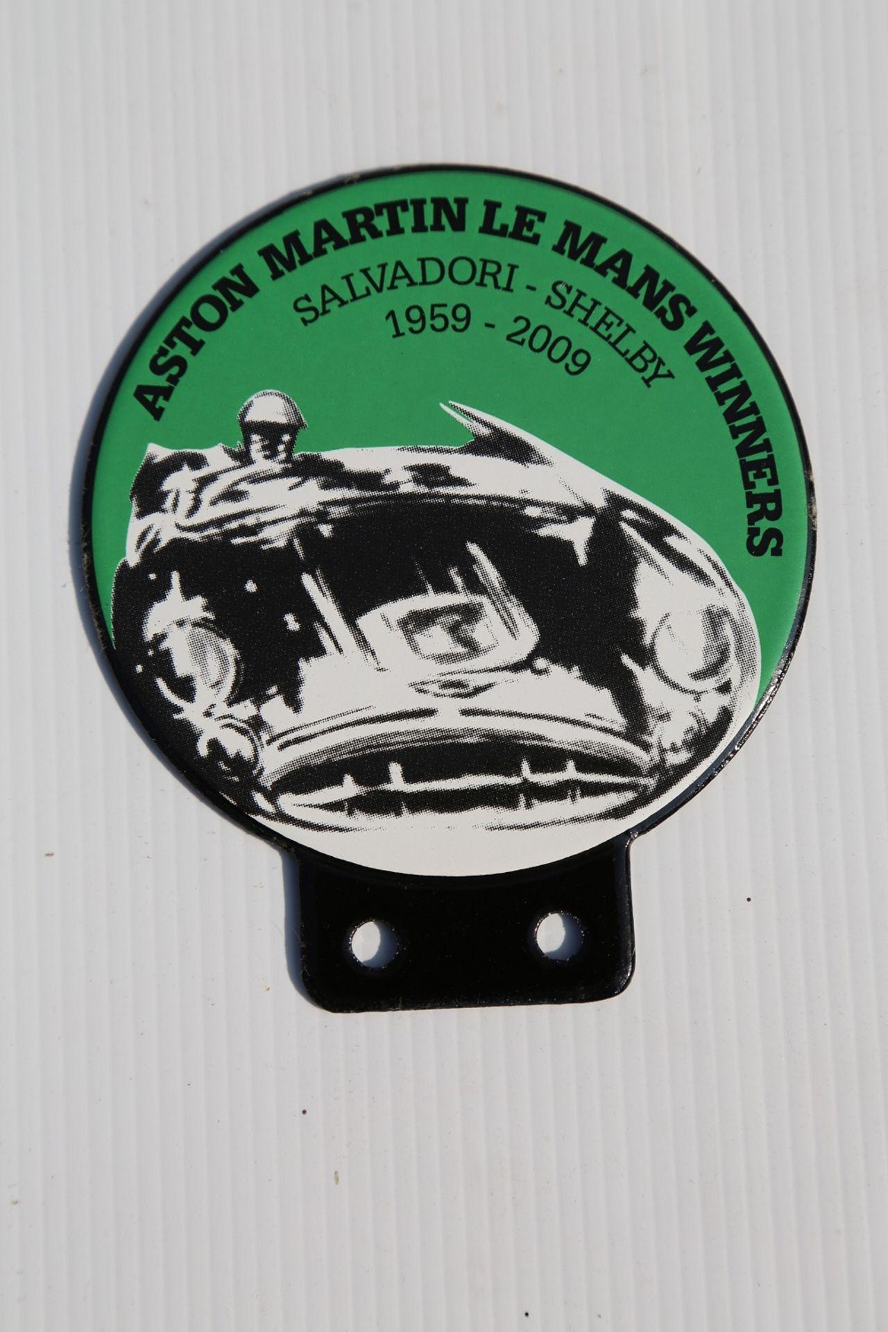 Lot 10 - Enamal Car Badge Commemorating the Le Mans Victory 1959-2009