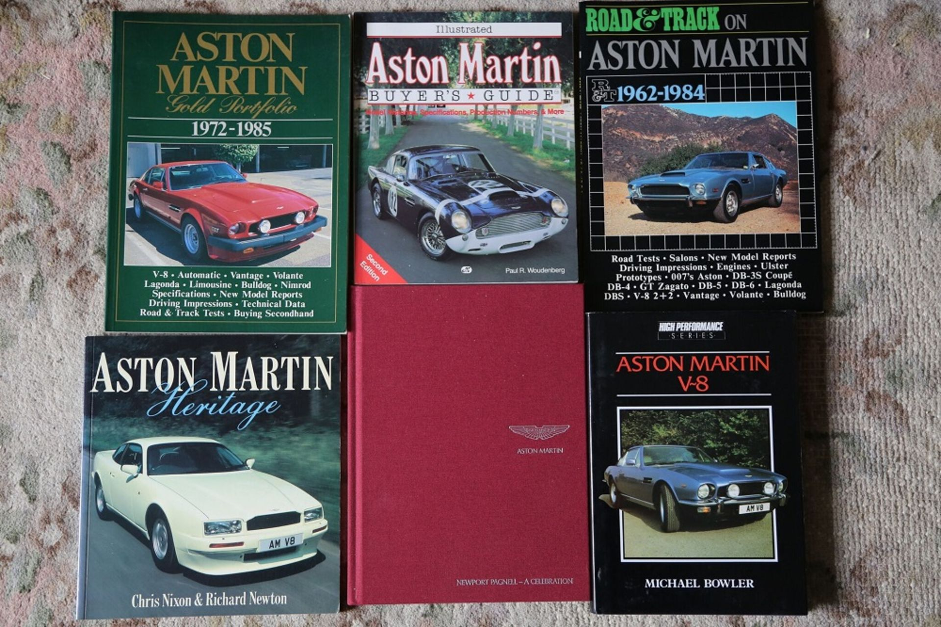 Lot 12 - 6 further Aston Martin titles from the library of a motoring enthusiast.