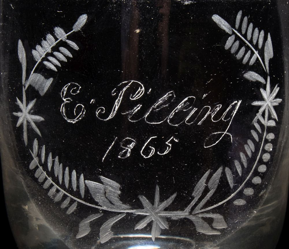 Lot 29 - A 19th century engraved tumbler for the passenger steam ship 'Sarah Sands' of Liverpool:,