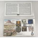 A replica campaign medal first day cover 30 squadron Zululand Expedition January 2000.