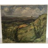 John G. Donley signed oil on canvas depicting Capel Curig, North Wales, circa 1950's.