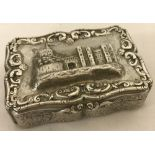 An antique Nathaniel Mills silver lidded trinket box hallmarked 1845.