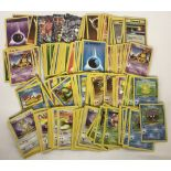 A collection of over 400 Pokémon Trading Cards.