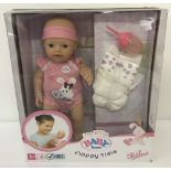A brand new boxed Zapf Creations Baby Born My Little Nappy Time Doll. Ex shop stock.