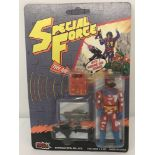 """1980's Special Force """"Red Fox"""" action figure by Sungold MFG Toys in original unopened blister pack."""