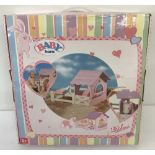A brand new boxed Zapf Creations Baby Born Wooden stable playset. Ex shop stock.