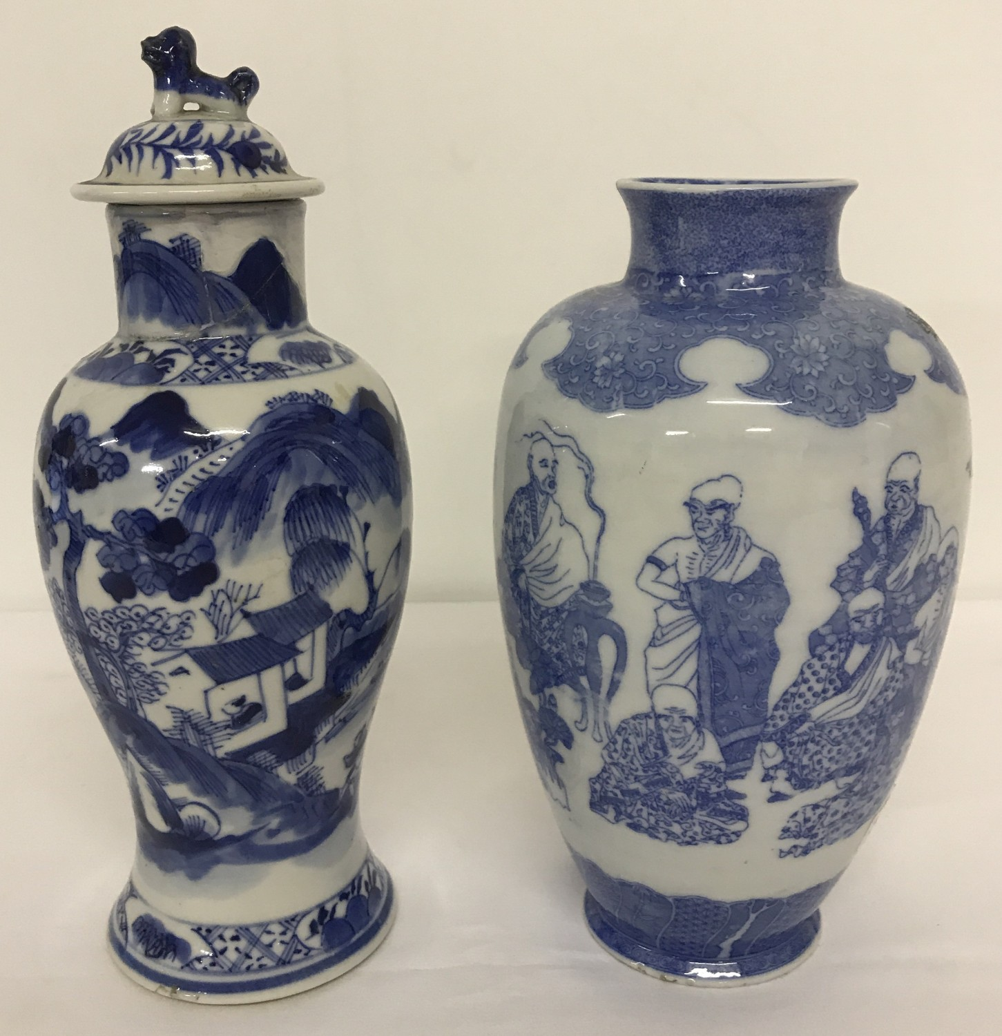 Lot 82 - 2 pieces of Chinese blue and white ceramics.