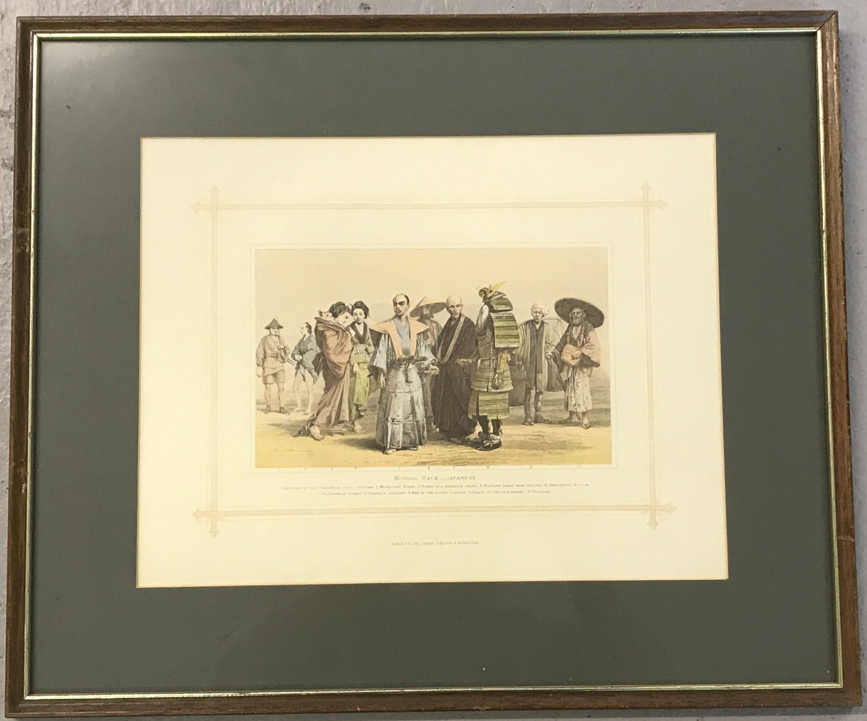 "Lot 144 - A framed and glazed print ""Mongol Race - Japanese"" by Blackie & Son, London & Edinburgh."