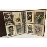 A folder containing 130+ vintage birthday and greetings cards.