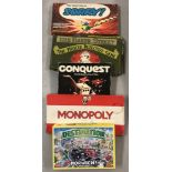 A collection of 5 board games.