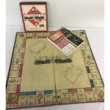 A complete 1940s game of Monopoly.