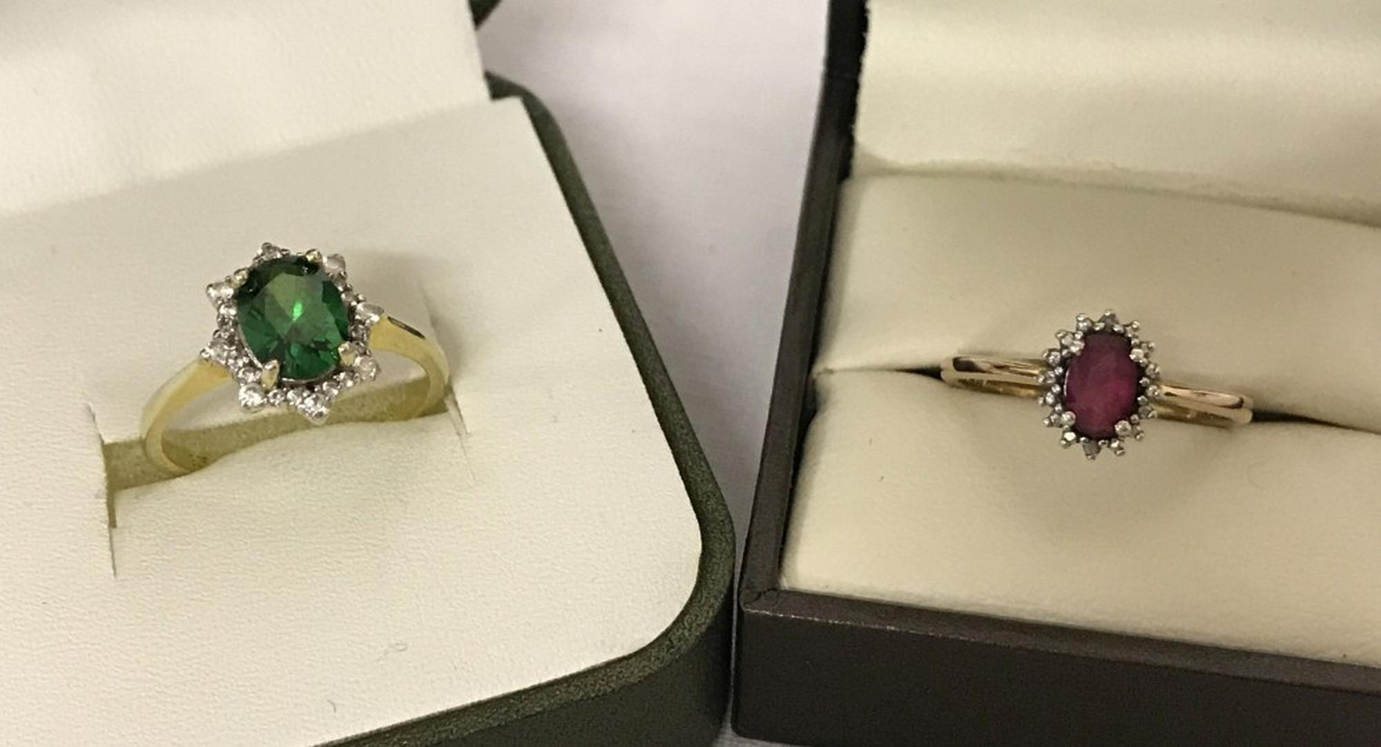 Lot 9 - 2 ladies silver dress rings.