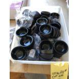 Lot de (80) + petits receptacles noirs pour sauces - neufs