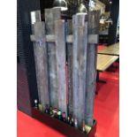 """(3) Panneaux d'intimité, bois grange , 41 x 70"""""""