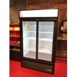 Superbe Réfrigérateur TRUE, 2 portes vitrées # GDM-41-HC-LD