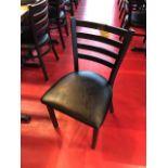 (10) Chaises Bistro, robutes, métal et cuir