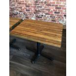 """(10) Belles tables Bistro, dessus bois épais, 32 X 24"""""""