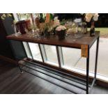"""Table Haute de bar, dessus bois 72 x 20"""""""