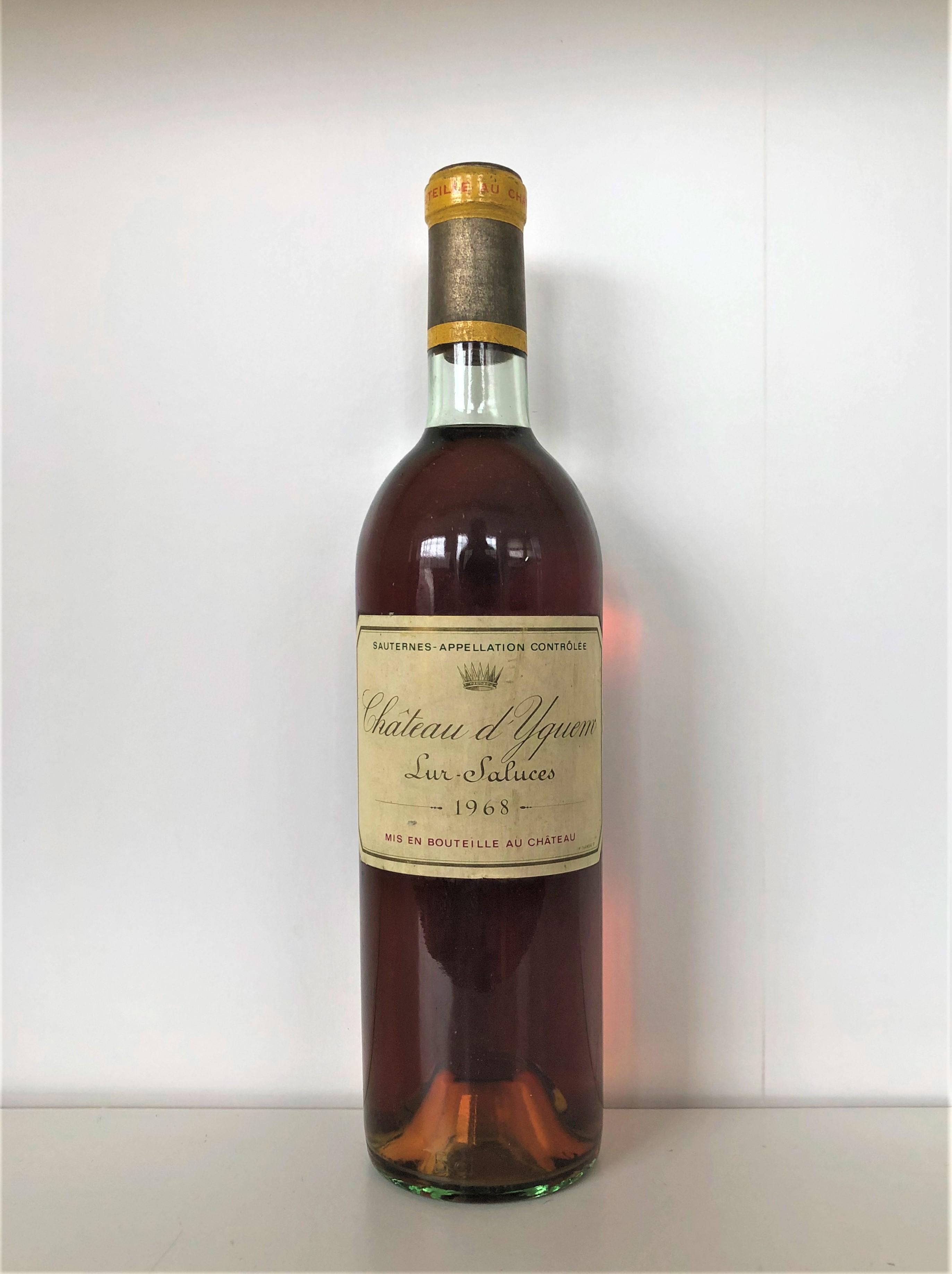 Lot 38 - 1968 Yquem, Sauternes, Bordeaux, France, 1 bottle